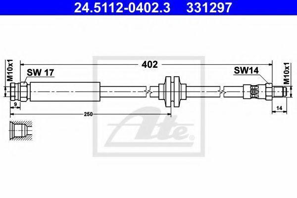 Шланг тормозной ATE 24.5112-0402.3