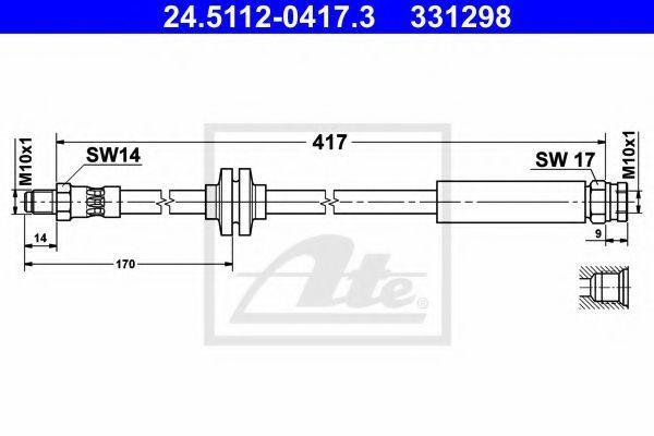 Шланг тормозной ATE 24511204173