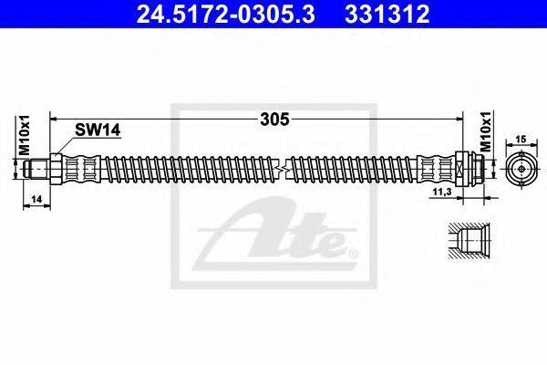 Шланг тормозной ATE 24517203053