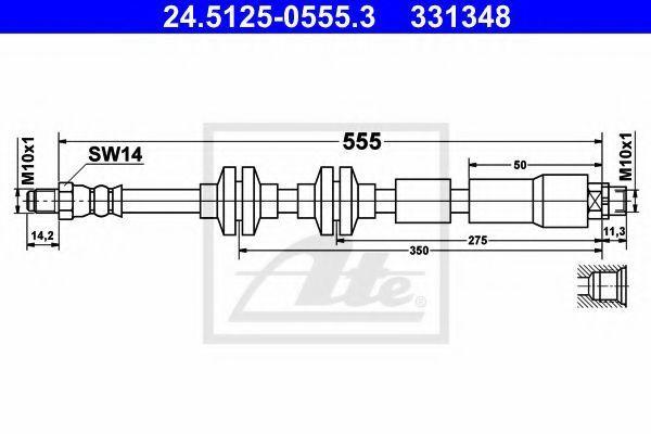 Шланг тормозной ATE 24512505553