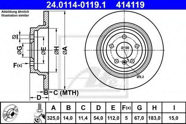 Тормозной диск ATE 24011401191
