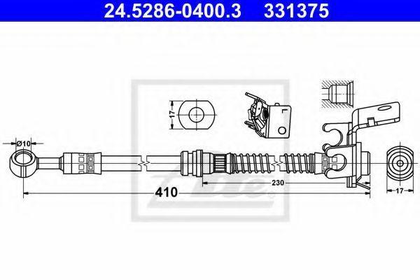 Тормозной шланг ATE 24528604003