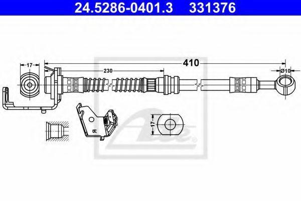 Тормозной шланг ATE 24528604013