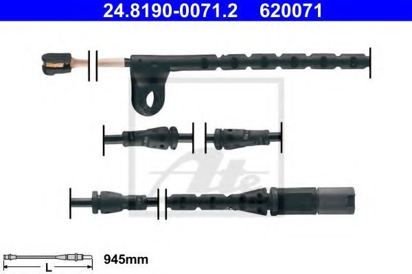 Датчик износа тормозных колодок ATE 24.8190-0071.2