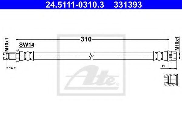 Тормозной шланг ATE 24511103103