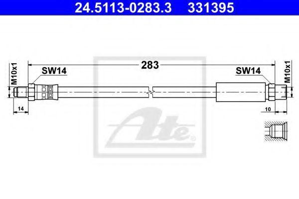 Шланг тормозной ATE 24511302833