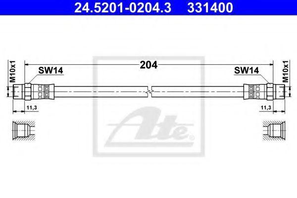 Тормозной шланг ATE 24520102043