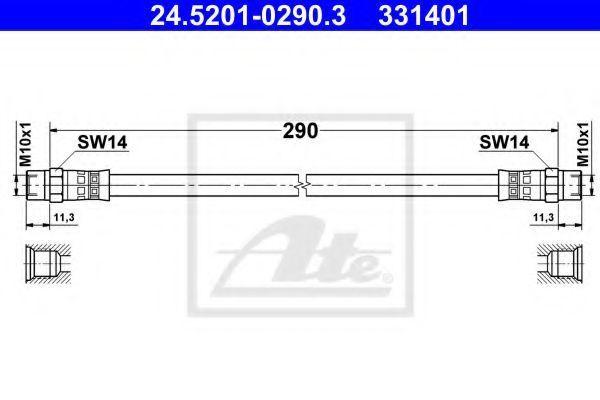 Тормозной шланг ATE 24520102903