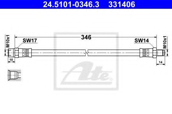 Тормозной шланг ATE 24510103463