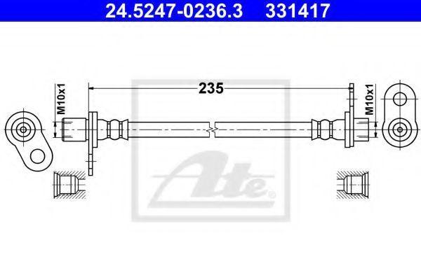 Тормозной шланг ATE 24524702363
