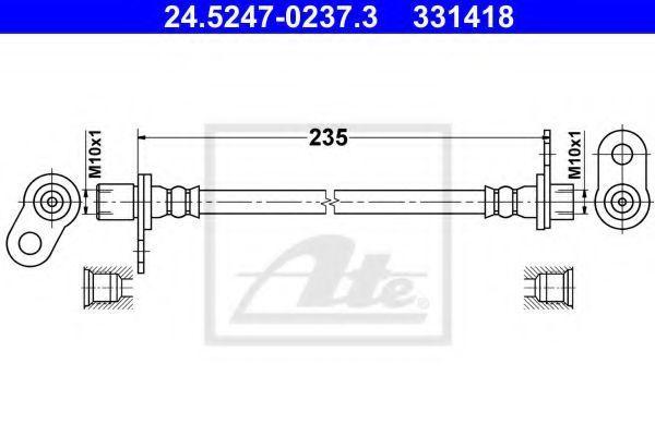 Тормозной шланг ATE 24524702373