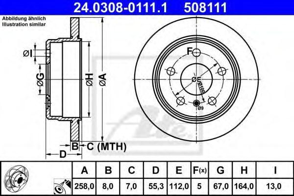 Диск тормозной ATE 24030801111