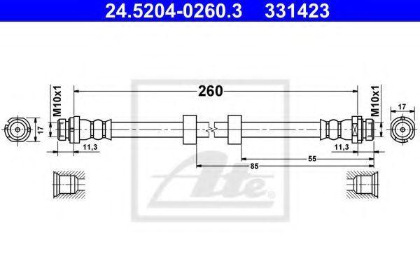 Шланг тормозной ATE 24520402603