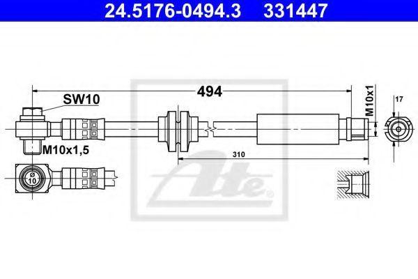 Тормозной шланг ATE 24517604943