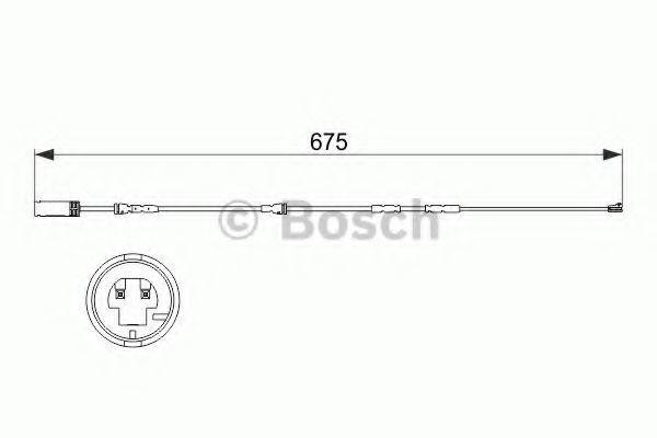 Датчик износа тормозных колодок BOSCH 1987473516