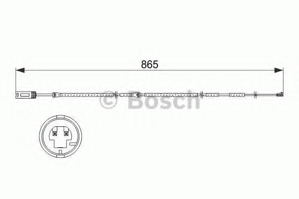 Датчик износа тормозных колодок BOSCH 1987473519
