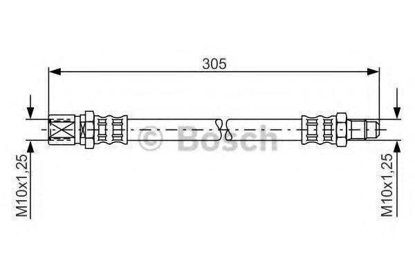 Тормозной шланг BOSCH 1987476003