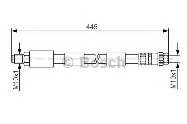 Шланг тормозной передний BOSCH 1 987 476 912