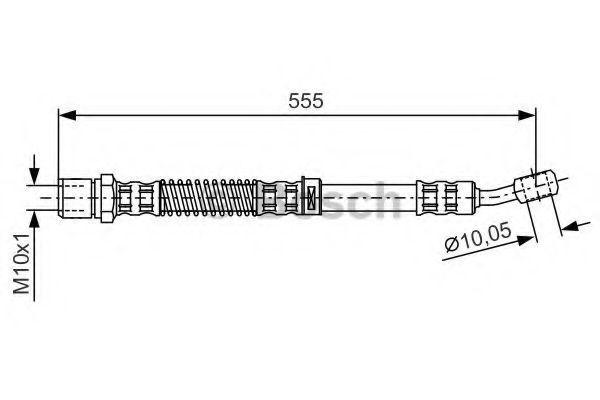 Тормозной шланг BOSCH 1987481144