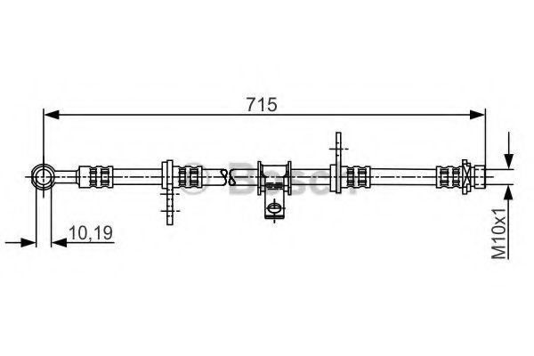 Тормозной шланг BOSCH 1987481240