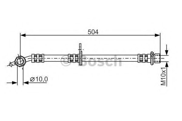 Тормозной шланг BOSCH 1987481306
