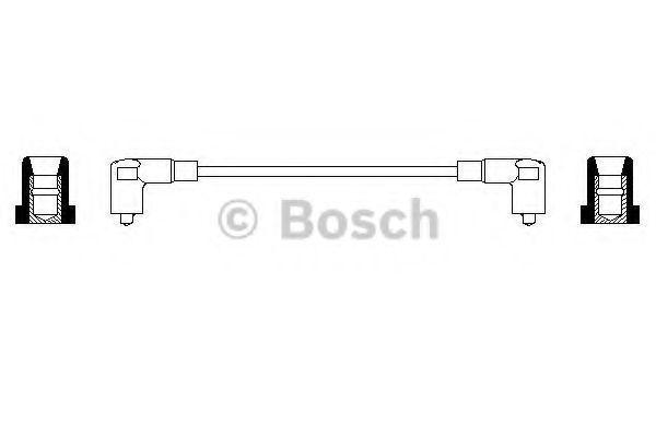 Провода высоковольтные комплект BOSCH 0356904075