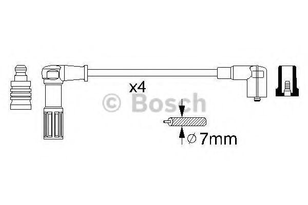 Комплект проводов зажигания BOSCH 0356912964