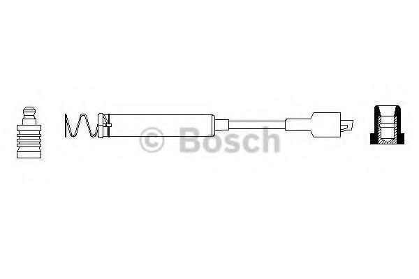 Провода высоковольтные BOSCH 0 986 356 160