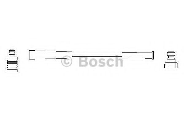 Провод высоковольтный BOSCH 0986356127
