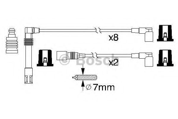 Комплект проводов зажигания BOSCH 0986356319