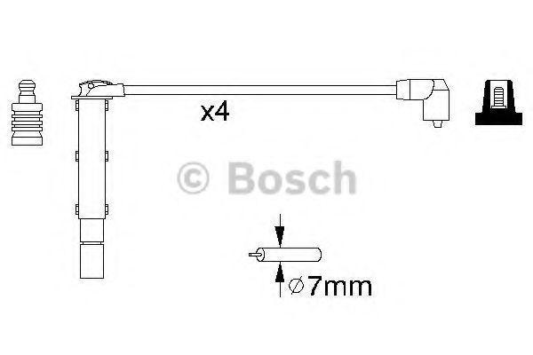 Комплект проводов зажигания BOSCH 0986356787