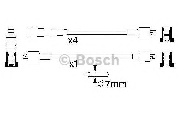 Комплект проводов зажигания BOSCH 0986356811