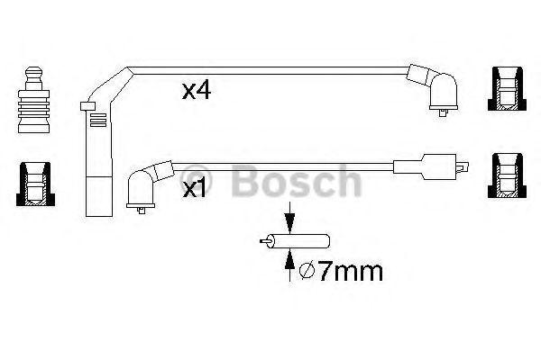 Комплект проводов зажигания BOSCH 0986356895