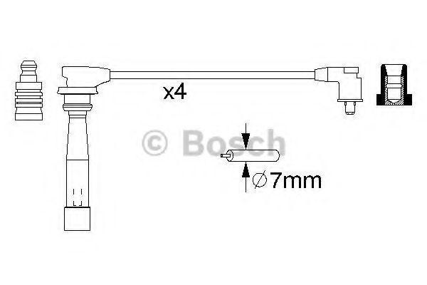Комплект проводов зажигания BOSCH 0986356989
