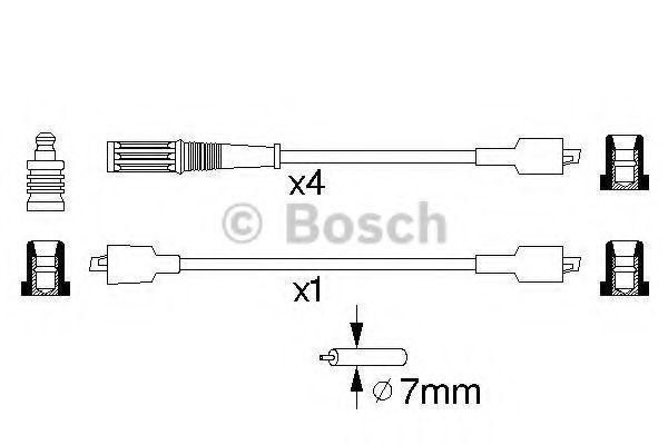 Комплект проводов зажигания BOSCH 0986357084