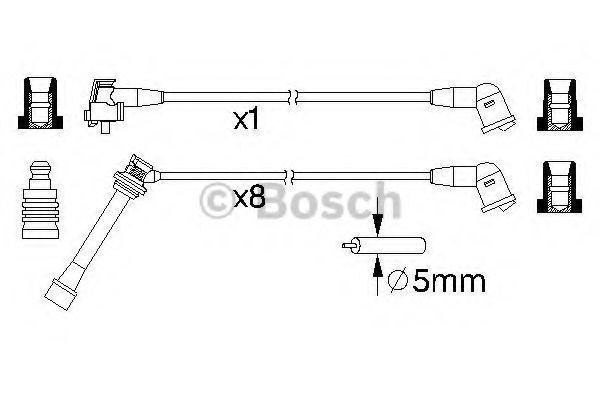 Комплект проводов зажигания BOSCH 0986357204