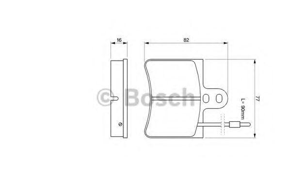 Комплект тормозных колодок, дисковый тормоз BOSCH 0986424026