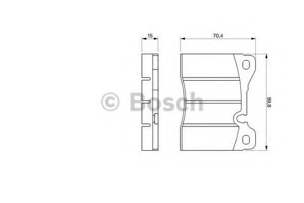 Комплект тормозных колодок, дисковый тормоз BOSCH 0986424050