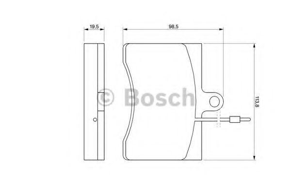 Комплект тормозных колодок, дисковый тормоз BOSCH 0986424069
