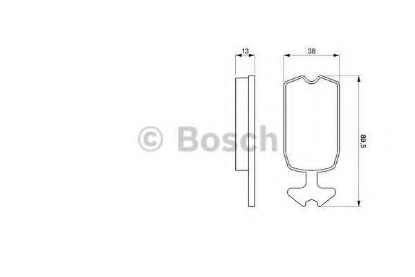 Комплект тормозных колодок, дисковый тормоз BOSCH 0986462072