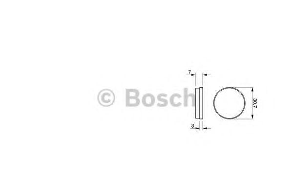 Комплект тормозных колодок, дисковый тормоз BOSCH 0986462850