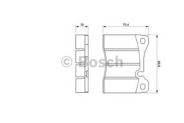 Комплект тормозных колодок, дисковый тормоз BOSCH 0986464372