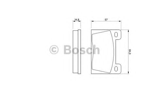 Комплект тормозных колодок, дисковый тормоз BOSCH 0986465610