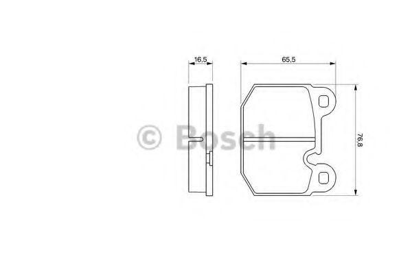 Комплект тормозных колодок, дисковый тормоз BOSCH 0986465881