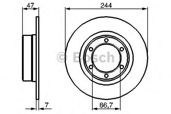 Тормозной диск BOSCH 0986478050