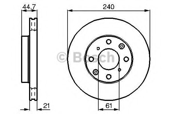 Тормозной диск BOSCH 0986478115