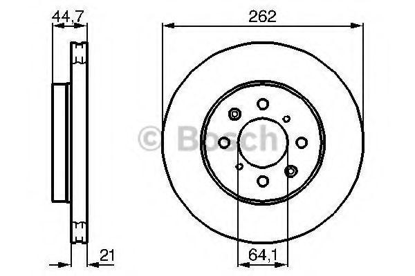 Тормозной диск BOSCH 0986479B23