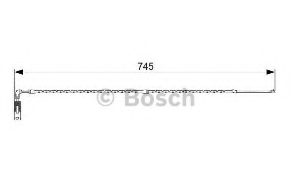 Датчик износа тормозных колодок BOSCH 1 987 473 000