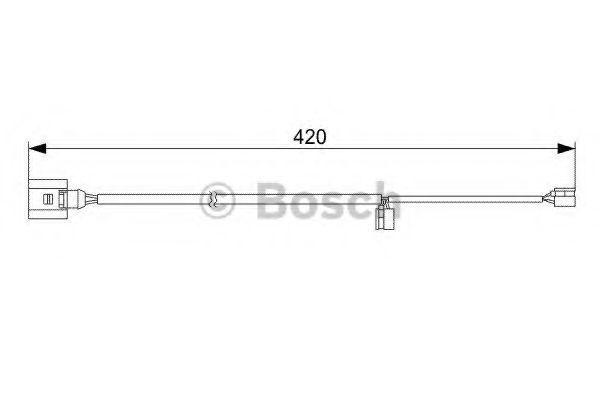 Датчик износа тормозных колодок BOSCH 1987473012