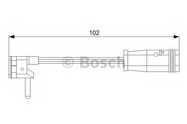 Датчик износа тормозных колодок BOSCH 1987473019